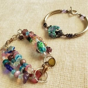 Beautiful Bracelets, Glass Beads, Sterling Silver